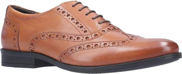 Hush Puppies Oaken Brogue Lace Mens Shoes Dark Brown
